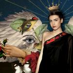 Constelación constellation baroque angeles barrocos fashion collection SS'17 Guatemala Liza Carrillo Vessel Collection